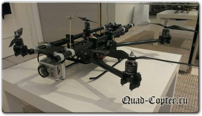самодельный тяжелый квадрокоптер для GoPro