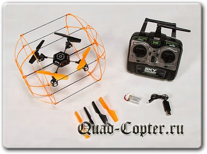 Комплектация квадрокоптера SkyWalker RC Flying Roller-Ball