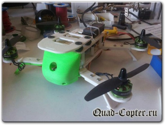 чертежи квадрокоптера для полетов с камерой