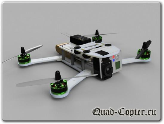 чертежи квадрокоптера для Drone Racing
