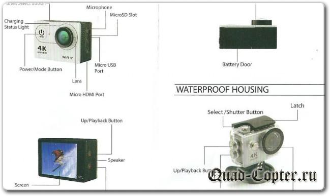 Eken H9R экшн-камера с WiFi
