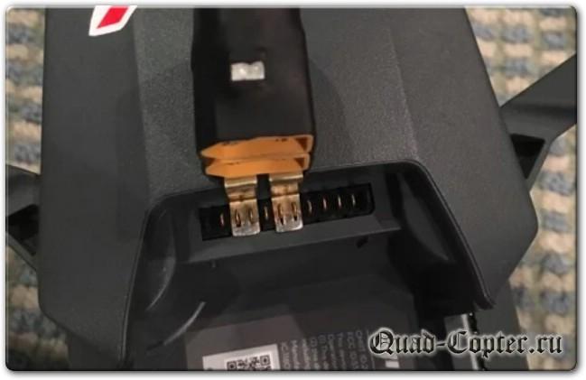 подключение дополнительного аккумулятора к DJI Mavic