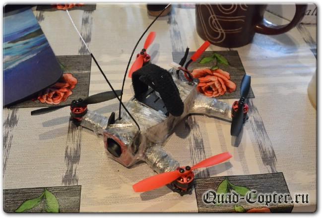 использование пленки для герметизации квадрокоптера