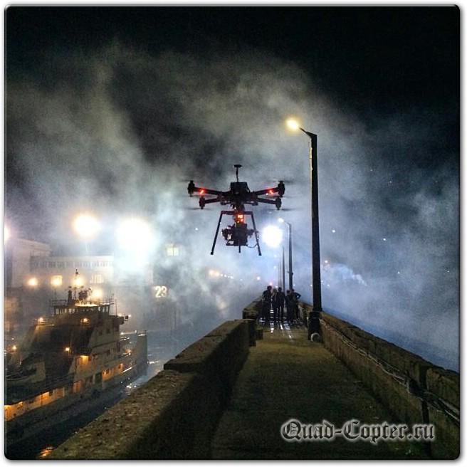 Квадрокоптер на съемках фильма