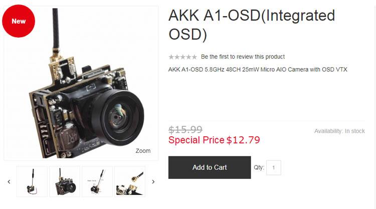 Где купить FPV камеру AKK A1-OSD