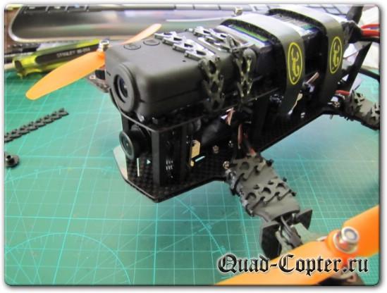 Экшен камера Mobius на мелком квадрокоптере