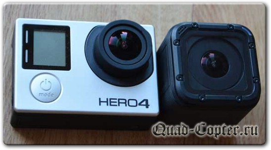 GoPro Session и GoPro 4 Balck