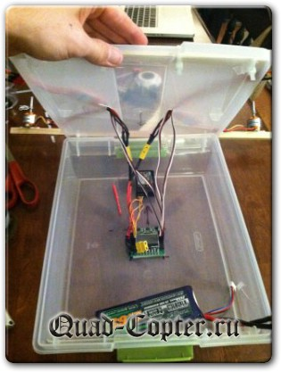 Электроника квадрокоптера из коробки