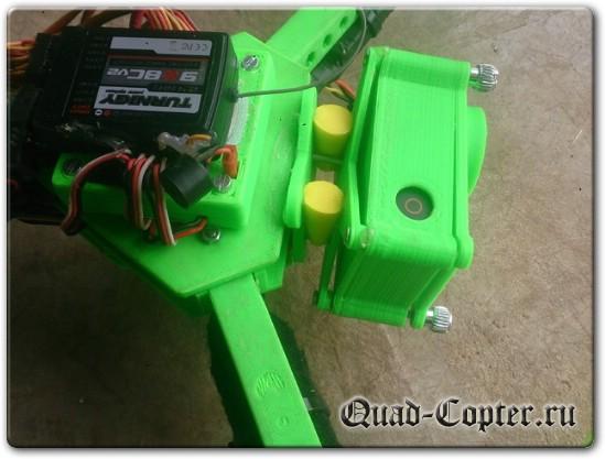 Трикоптер на радиоуправлении чертежи и STL файлы