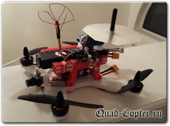 Квадрокоптер 250 размера разработанный под 3D принтер
