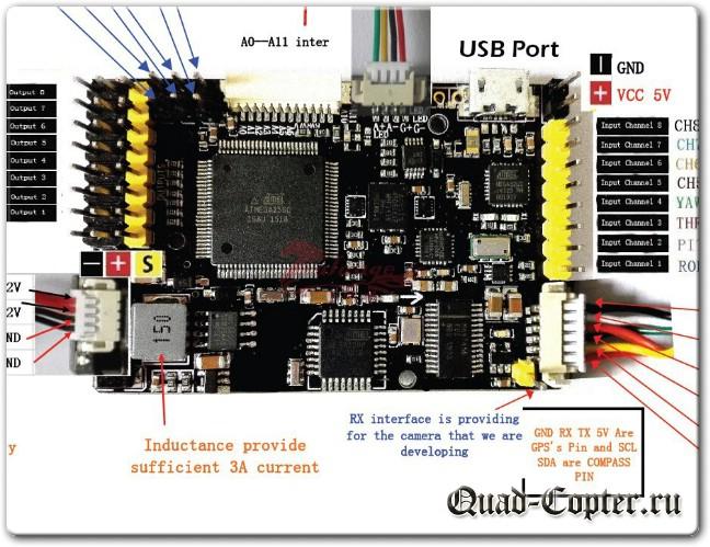 полетный контроллер AMP для квадрокоптера с дальним радиусом действия