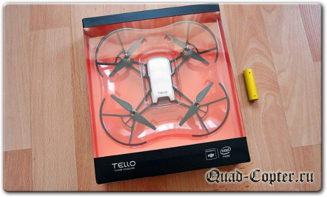 Умный квадрокоптер Tello. Intel onboard