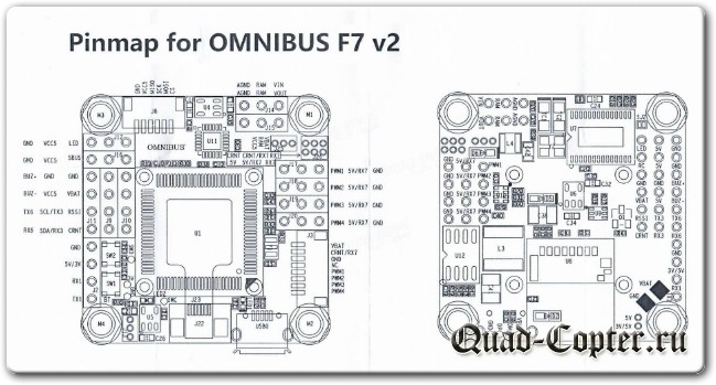 Обзор Omnibus F7 V2 Flight Controller STM32 F745 MCU 2-4S Built in Betaflight OSD Dual Gyro 30.5x30.5mm for RC Drone