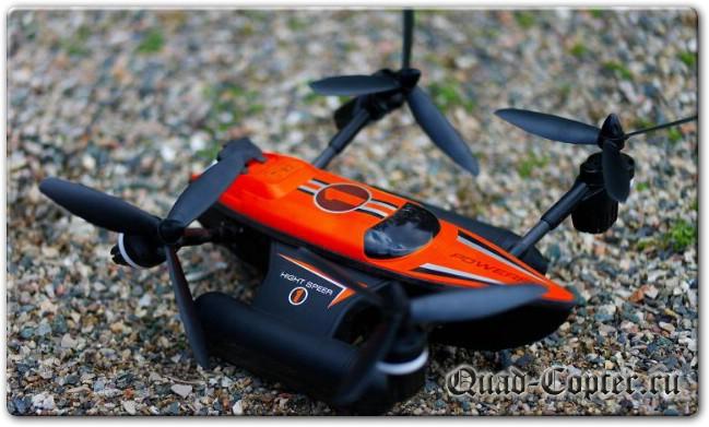Wltoys Q353 Triphibian - Квадрокоптер с возможностью езды и плавания