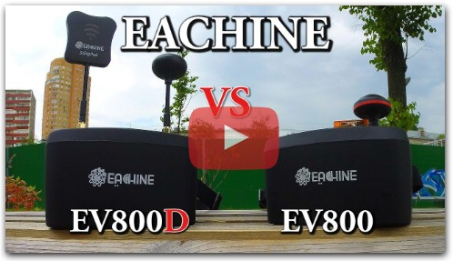 Eachine EV800D vs Eachine EV800 Тест Cравнение