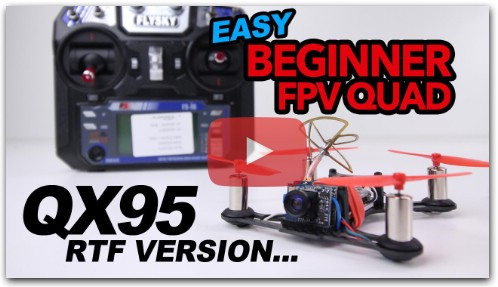 EASY Beginner Fpv Drone - QX95 Review & Flight