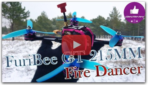 FPV Квадрокоптер - FuriBee GT 215mm Fire Dancer! Gearbest