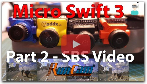 Runcam Micro Swift 3 - Side By Side Comparison