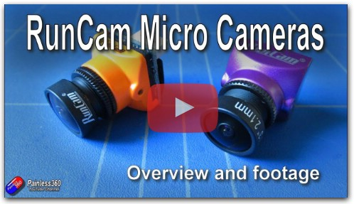 RunCam Micro Sparrow 2 Pro and Micro Swift 3 FPV Cameras