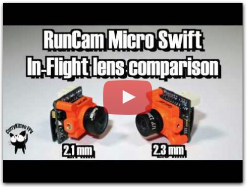 RunCam Micro Swift: 2.1mm vs 2.3mm lens comparison