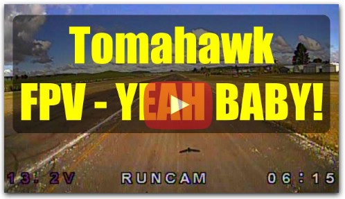 Durafly Tomahawk FPV полетный тест с Runcam Swift 3 Micro