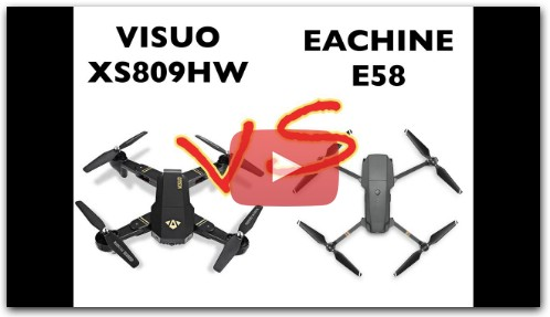 Сравнение: EACHINE E58 vs VISUO XS809HW
