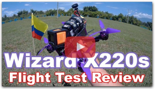 Eachine Wizard X220s 5S FPV Racer Drone Flight Test Review