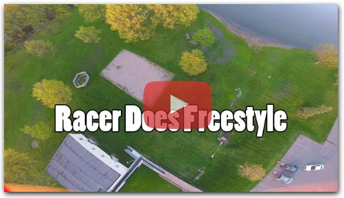 Drone Racer Does Freestyle with a Race Quad