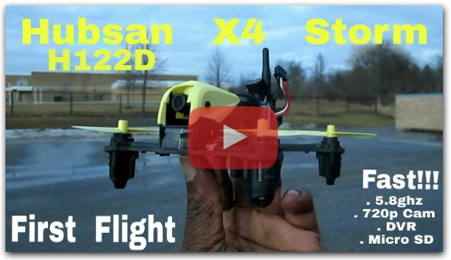 Hubsan H122D X4 Storm . Crazy Fast!! Great Camera!!