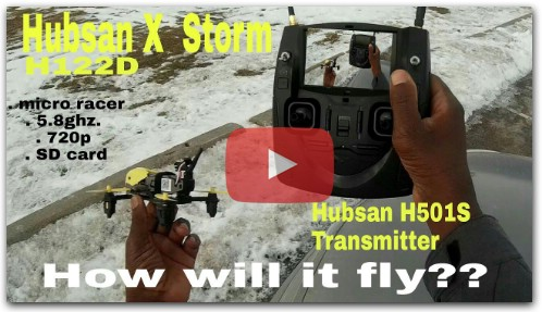 Hubsan H122D X4 Storm with the H501S Transmitter