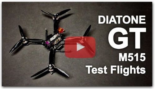Diatone GT M515 FPV Racing RC Drone Flight Tests