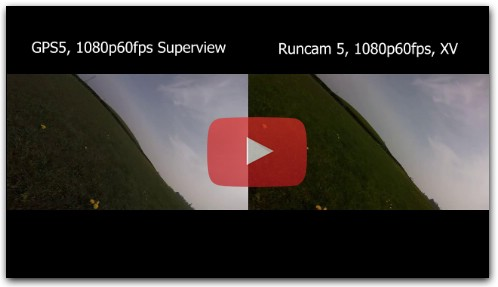 Runcam 5 Xview vs GoPro Session 5 SuperView Comparsion Video in 1080p60fps