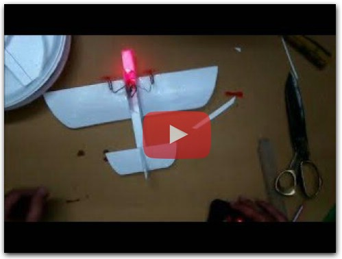 How to make micro 3D RC plane from Broken RC 2ch Helicopter parts
