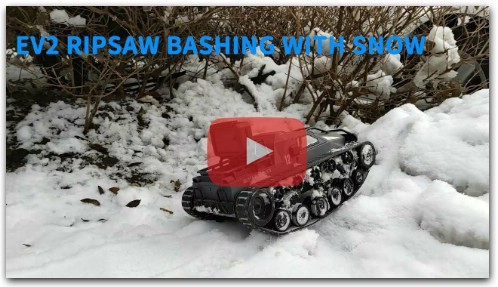EV2 Ripsaw 1/12 RC Tank Bashing with Snow