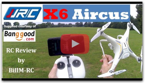 JJRC X6 Aircus review - 1080P Wide Angle Camera