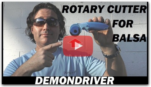 RC DIY Rotary Cutter for Balsa and Depron