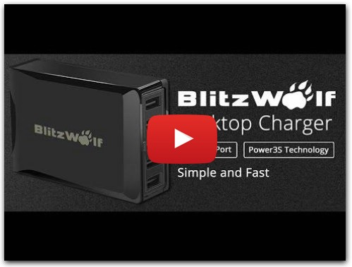Обзор BlitzWolf™ 40W Smart 5-Port High Speed Desktop Charger