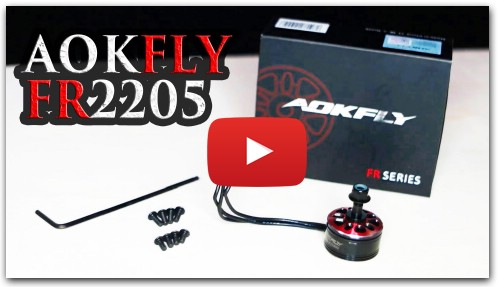 AOKFLY FR2205 motors unboxing and short review