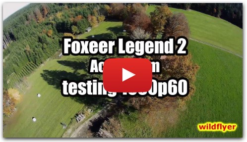 NEW Foxeer Legend 2 ActionCam on FPV racing drone testing 1080p60