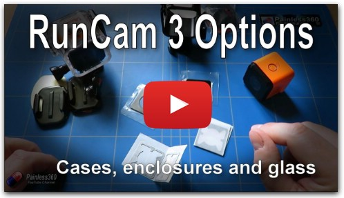 RunCam 3 Mounts and Replacement Glass