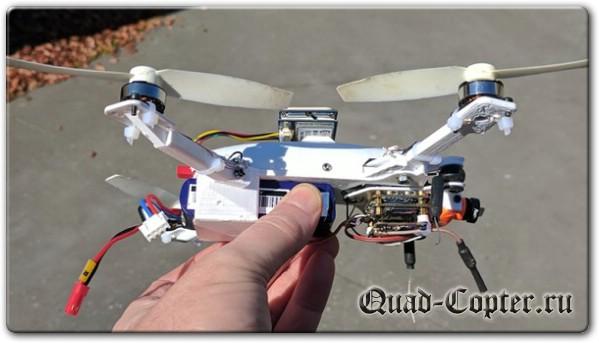 Чертежи квадрокоптера со складными лучами для 3D принтера
