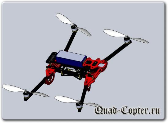 Чертежи складного квадрокоптера для FPV полетов