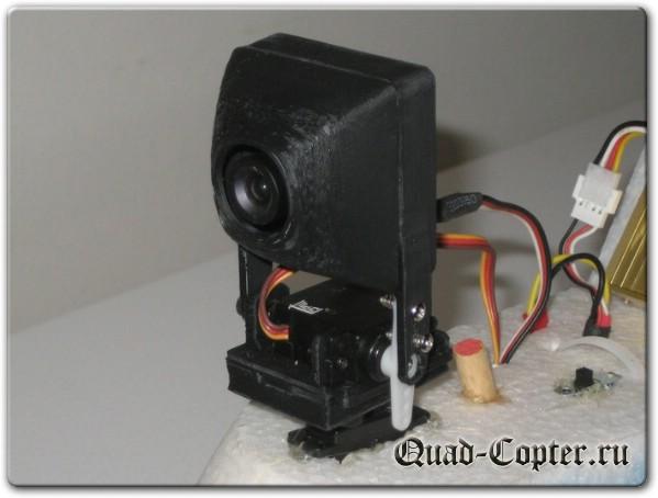 подвес на сервомашинках для курсовой FPV камеры