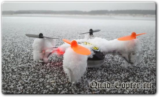 Заледеневший квадрокоптер, можно летать зимой на квадрокоптере