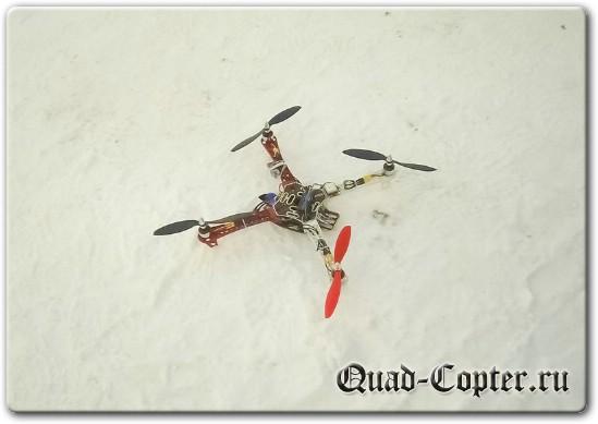 Зимние полеты на квадрокоптере