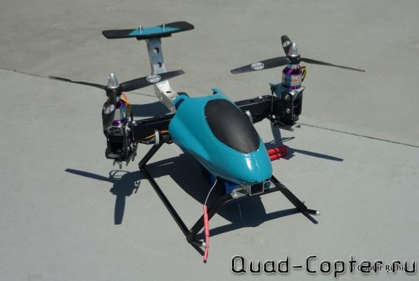 Твинкоптер - квадрокоптер с двумя моторами